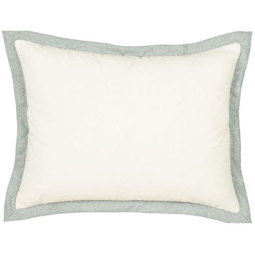 Picture of Myrtle Solid Ivory Bed Pillows (Spa Flange)
