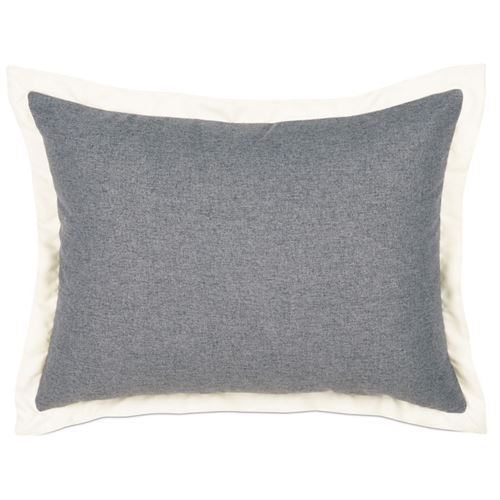 Picture of Myrtle Solid Charcoal Bed Pillows (Ivory Flange)